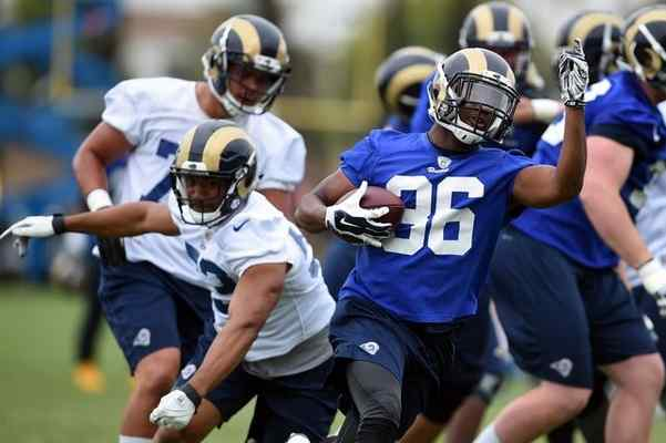 The Rams' Aaron Green #36 during practice in Oxnard, CA, Tuesday, June 14, 2016. (Photo by Hans Gutknecht/Los Angeles Daily News)