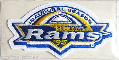 The Rams played their first season in St. Louis in the fall of 1995.